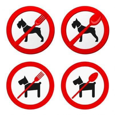 simbolo vietato ingresso agli animali