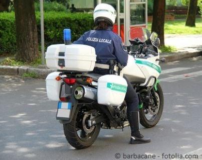 Vigilessa su moto