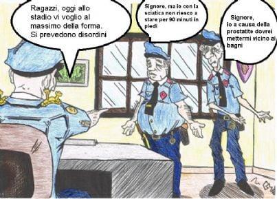 vignetta sui poliziotti