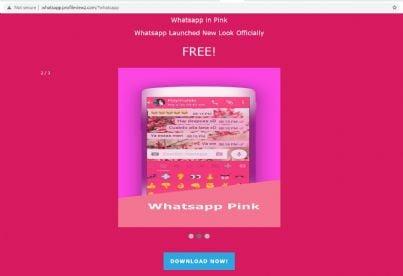 app Whatsapp in rosa