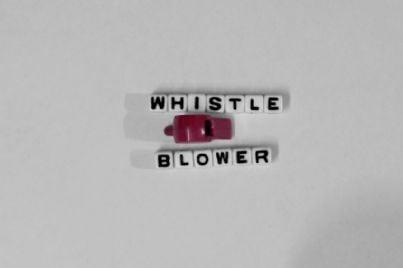 fischietto e parola whistleblower